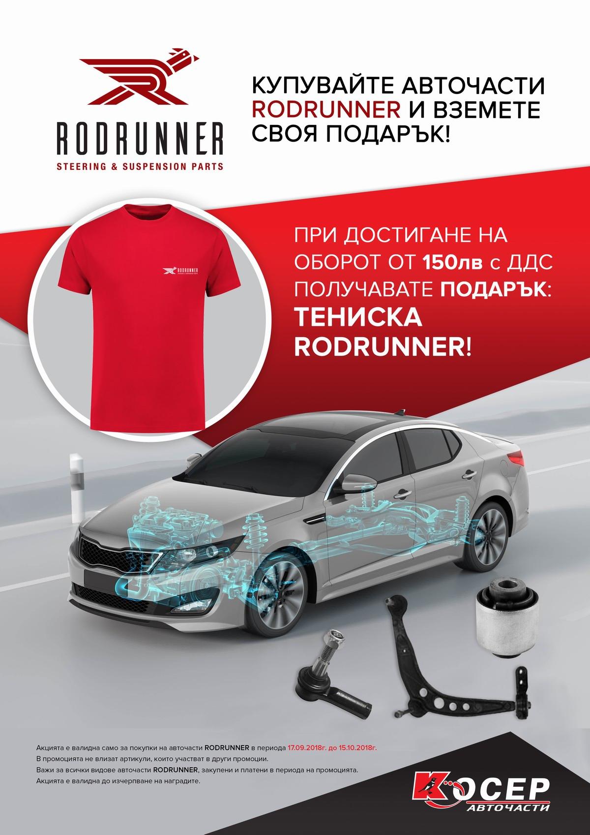 Промоция RODRUNNER - 17.09.2018 до 15.10.2018